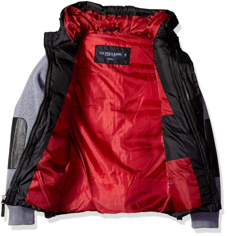 Boys Bubble Vest Jacket with Fleece Sleeves US Polo Association Polo Assn U.S