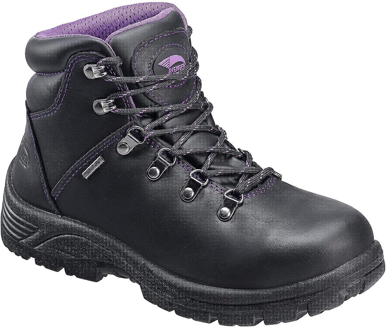 """FSI Avenger Women's 6"""" Framer Steel Waterproof Leather Slip Resistant Safety Toe EH Hiker Work Boot"""