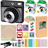 Fujifilm Instax Square SQ6 - Instant Camera Graphite Gray with Carrying Case + Fuji Instax Film Value Pack (40 Sheets…