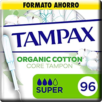 Tampax Cotton Protection Super Con Aplicador 96 x, Tampones De ...
