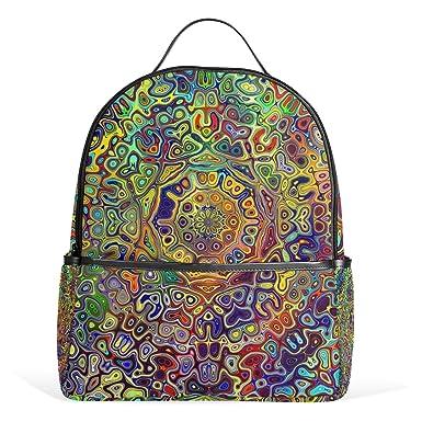 1a6e6c31bced Amazon.com  Sunlome Colorful Psychedelic Mandala Fractal Pattern ...
