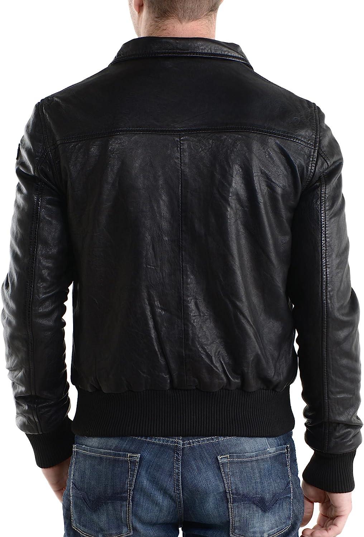 Kingdom Leather Mens Genuine Lambskin Leather Jacket Slim Fit Biker Motorcycle Jacket X103