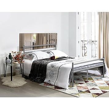 Aingoo Gästebett Doppelbett Metallbett Metall Rahmen Bett Tagesbett ...