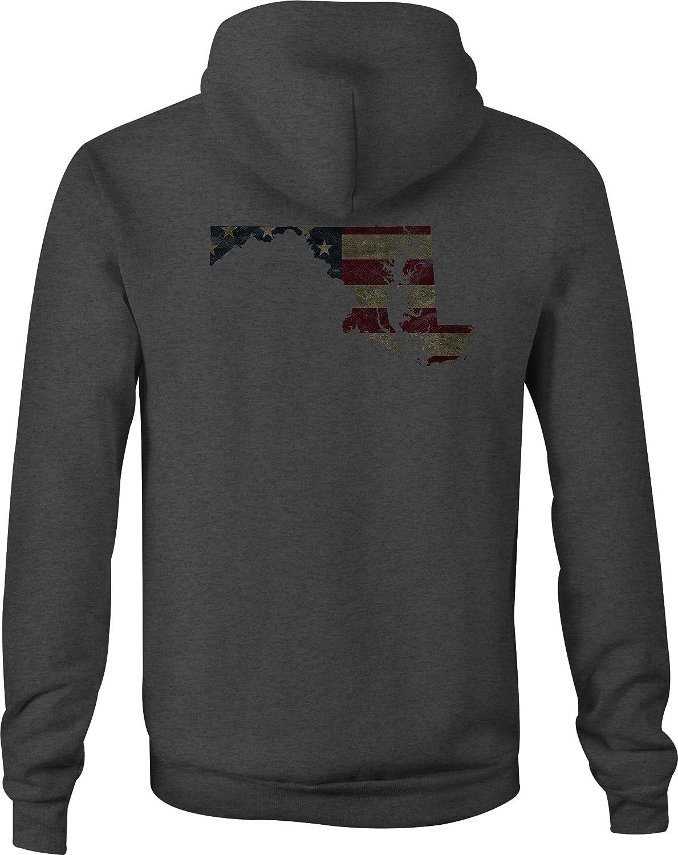 Fire Fighter Zip Up Hoodie Maryland Hooded Sweatshirt for Men
