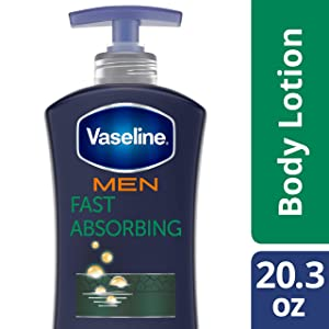 Vaseline Men Healing Moisture Body Lotion, Fast Absorbing, 20.3 Fl Oz (Pack of 1)