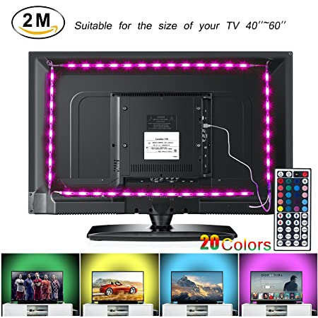 LED TV Backlight Strip Lights 2M/6.56ft USB Powered RGB Multi-Color  sc 1 st  Amazon UK & LED TV Backlight Strip Lights 2M/6.56ft USB Powered RGB Multi-Color ...