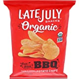LATE JULY Snacks Organic Potato Chips Laid-Back Barbeque Potato Chips, 5 Oz.