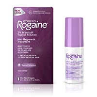 Women's Rogaine 2% Minoxidil Topical Solution for Hair Thinning and Loss, Topical...