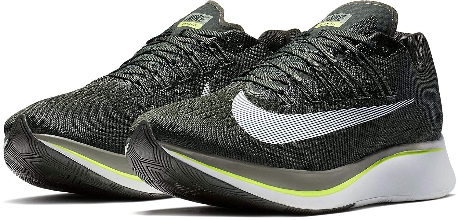 White Nike Mens Zoom Fly SP Lightweight Trainer Running shoes
