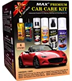 MAX Premium Car Care Kit (Pack of 6 items and Foam 4 Pieces)