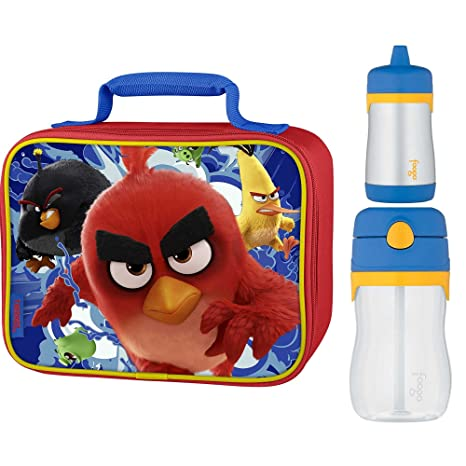 1623c82c0fdd Amazon.com   Thermos Soft Lunch Kit w 10oz   11oz Drink Bottle - Angry  Birds   Sports   Outdoors