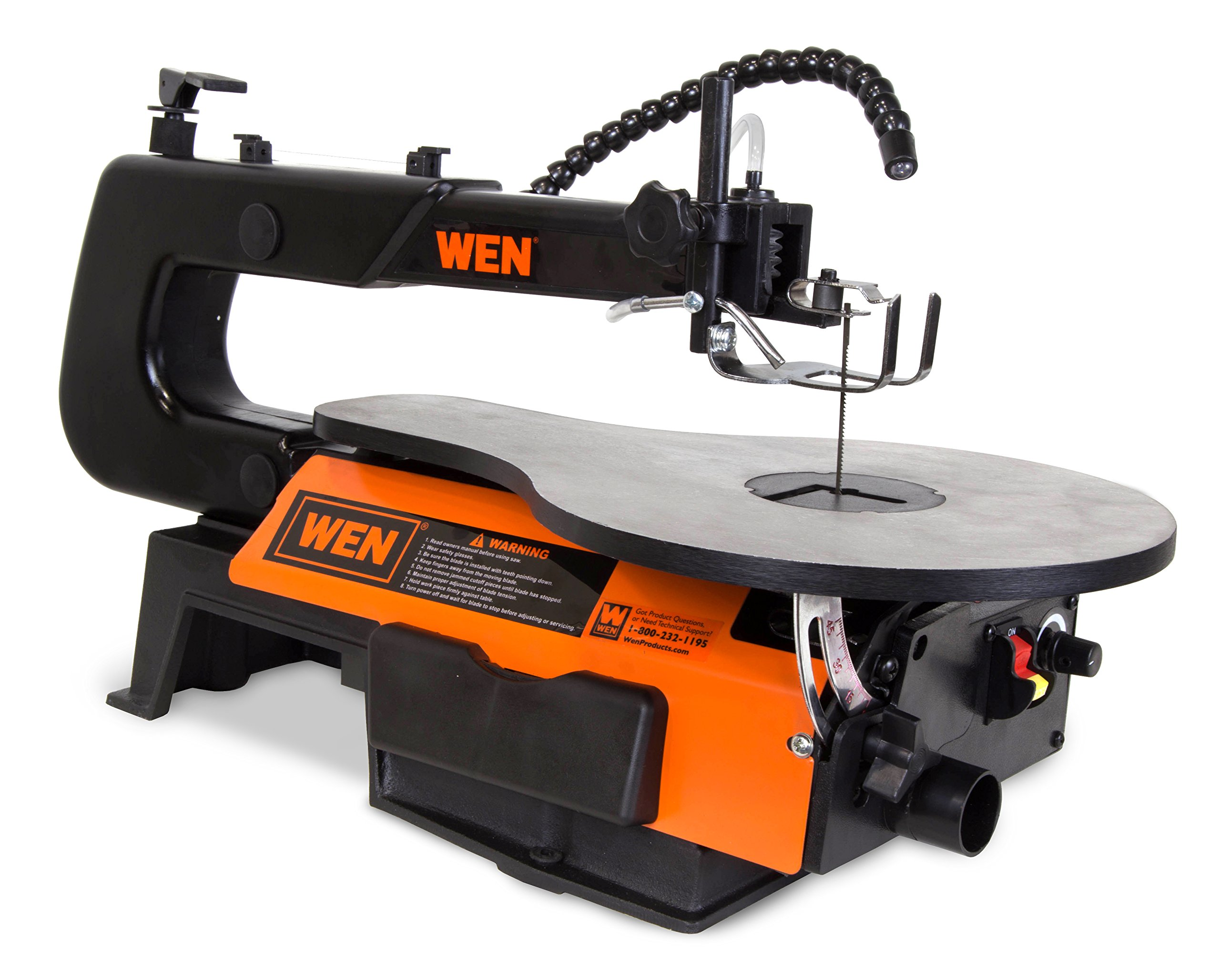 WEN 3920 16-Inch Two-Direction Variable Speed Scroll Saw with Flexible LED Light by WEN