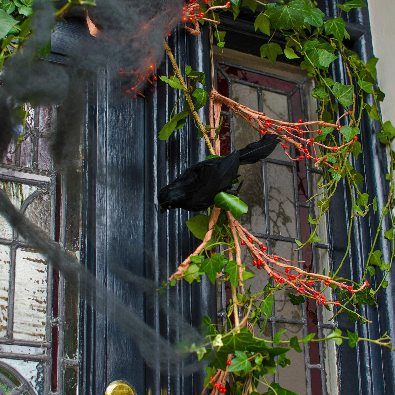 Aneco 6 St/ück realistisch gefiederte Kr/ähen Halloween Fake Kr/ähe Schwarz K/ünstliche Kr/ähe Halloween handgefertigt gefiederte Kr/ähe f/ür Halloween Indoor Outdoor Raben V/ögel Dekoration