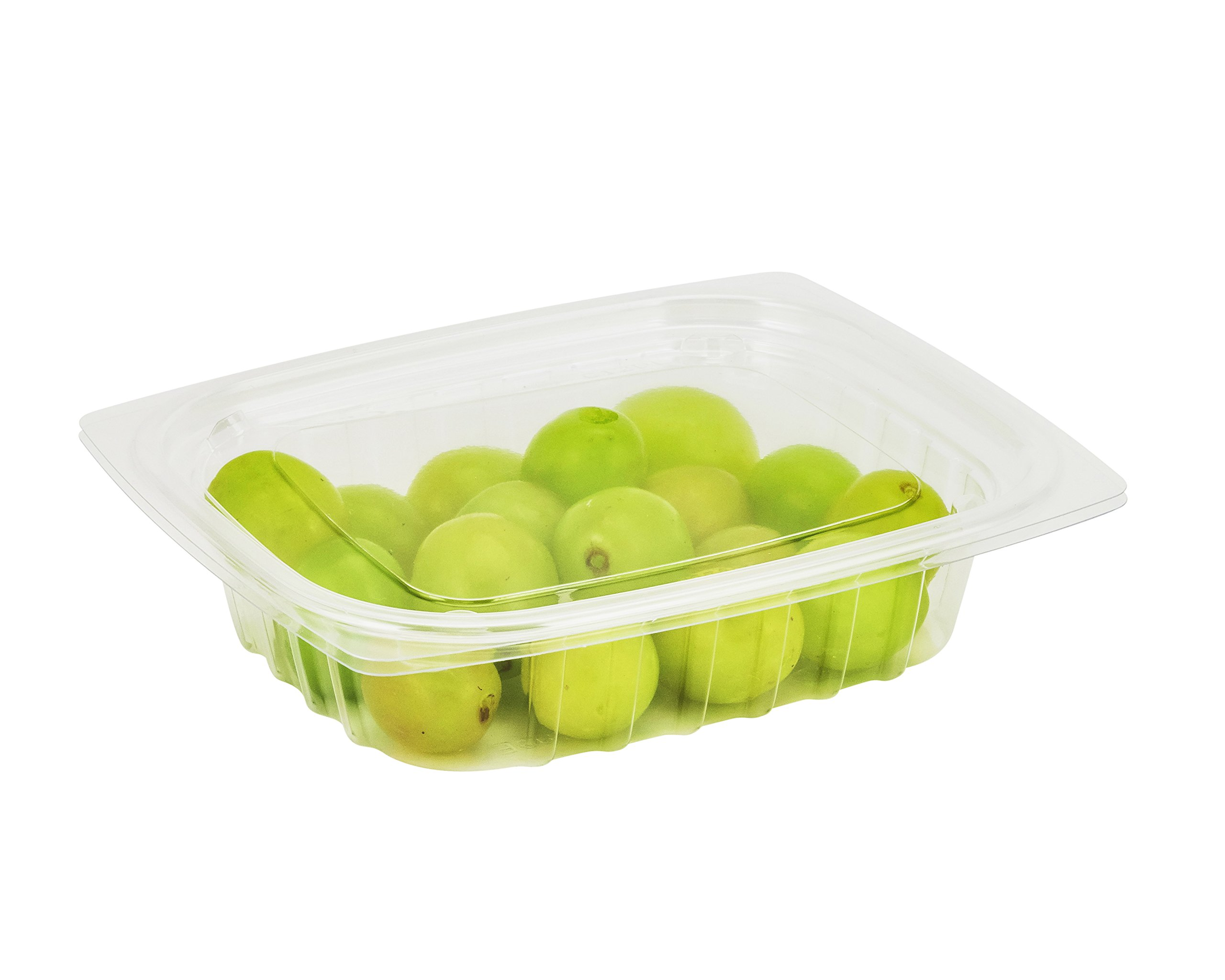 Dart C8DCPR, 8-Ounce ClearPac Clear Rectangular Plastic Container With A Flat Lid, Take Out Deli Fruit Food Disposable Containers (50)