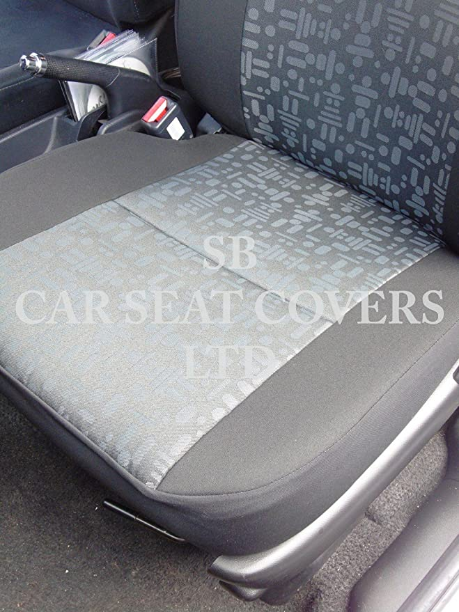 2 Singles Rossini Motorsports Vauxhall Combo Van Seat Covers Retro Grey