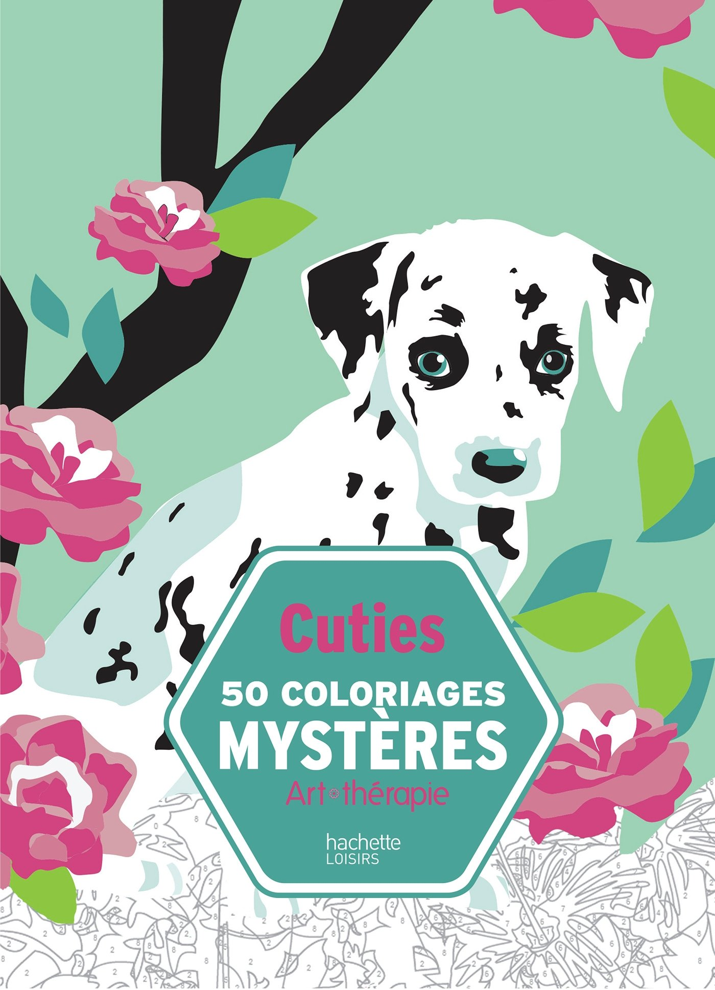 Cuties 50 coloriages mystères – coloriages animaux anti-stress [ coloring book for adults ] (Art thérapie) (French Edition)