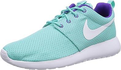 Nike Roshe Run - Zapatillas de Running Mujer, Turquesa (Turquoise (White/Hyper Grape-Hyper Turq)), 41 EU: Amazon.es: Zapatos y complementos