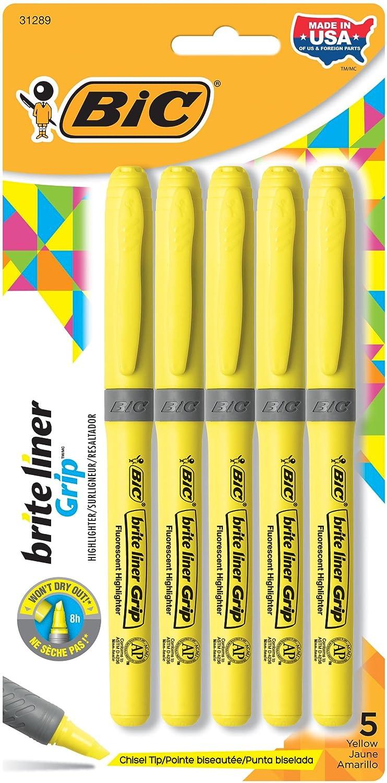 Evidenziatore a penna Grip Bic - fucsia - 811934 (conf.12) GBL11 - Pnk