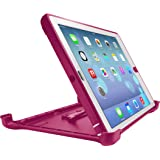 OtterBox 77-28035 Defender Series Case with Stand for Apple iPad Air - Retail Packaging - Papaya - Peony Pink / White
