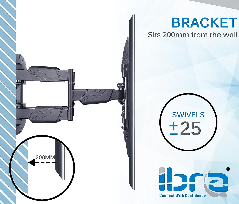 300x300 30x30 Led Lighting Panel Integrated Kitchen: IBRA® Ultra Slim Tilt Swivel TV Wall Bracket Mount