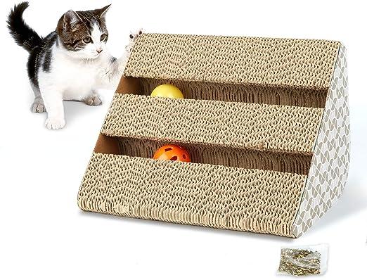 Hengu Juguete Rascador para Gatos, Garra de Gato Alfombra Barriles ...