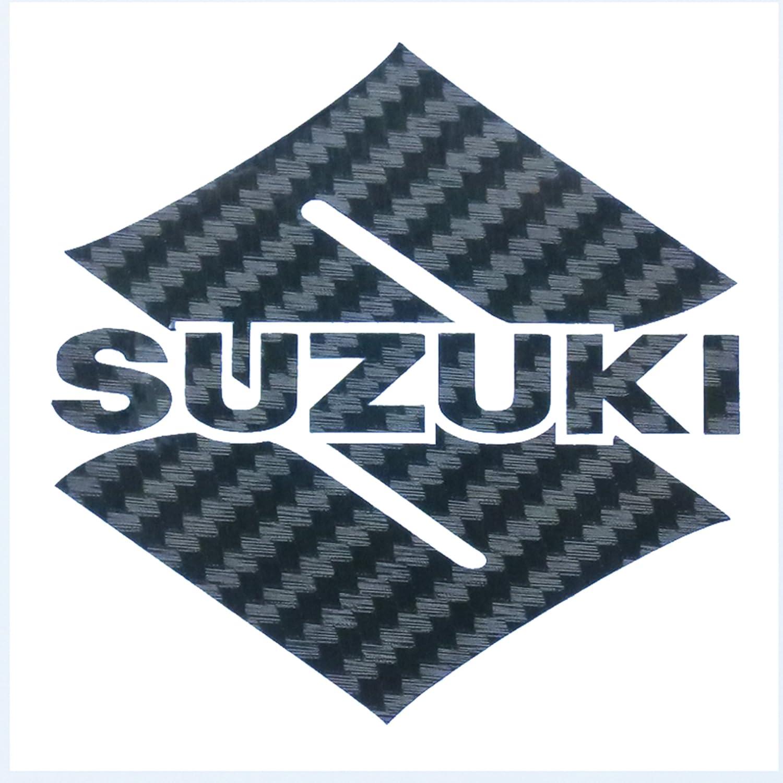 ! Suzuki S Effet Fibre de Carbone Autocollants pour Moto en Vinyle Stickers Graphique GSXR X 2Pièces