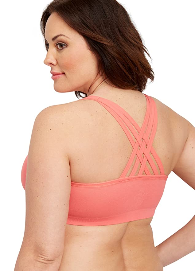1d0627d324482 maurices Women s Plus Size Strappy Seamless Bralette 2 Sunset Rose at  Amazon Women s Clothing store
