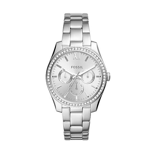 Fossil Reloj Analogico para Mujer de Cuarzo con Correa en Acero Inoxidable ES4314: Amazon.es: Relojes