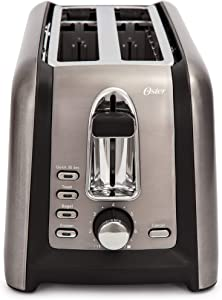 Oster TSSTTRGM4L Black Stainless Toaster, (Renewed)