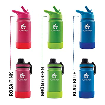 hydro2go  Kinder Trinkflasche aus Edelstahl 350mlThermo Sky Blue, 350 ml