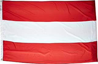product image for Annin Flagmakers Model 190470 Austria Flag Nylon SolarGuard NYL-Glo, 4x6 ft, 100% Made in USA to Official United Nations Design Specifications