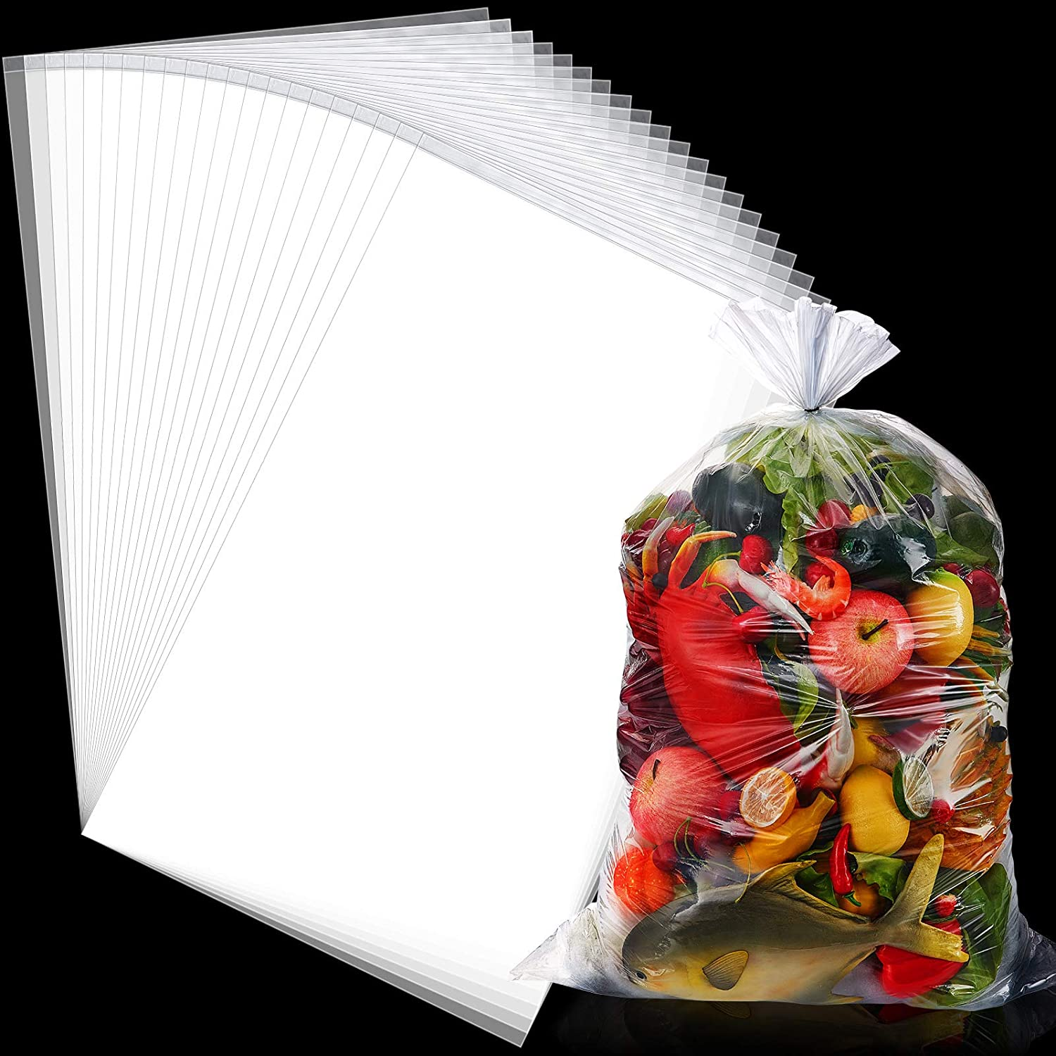 18 Pieces 5 Gallon Bucket Liner Bags for Marinating and Brining Leak Proof Heavy Duty Bags for Food Storage