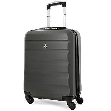 grand choix de 829d9 aeffd Aerolite 55x40x20 Ryanair Taille Maximale 40L ABS Cabine Bagage à Main  Valise Rigide Légere à 4 roulettes, pour Easyjet, Lufthansa et Plus, Gris  Foncé
