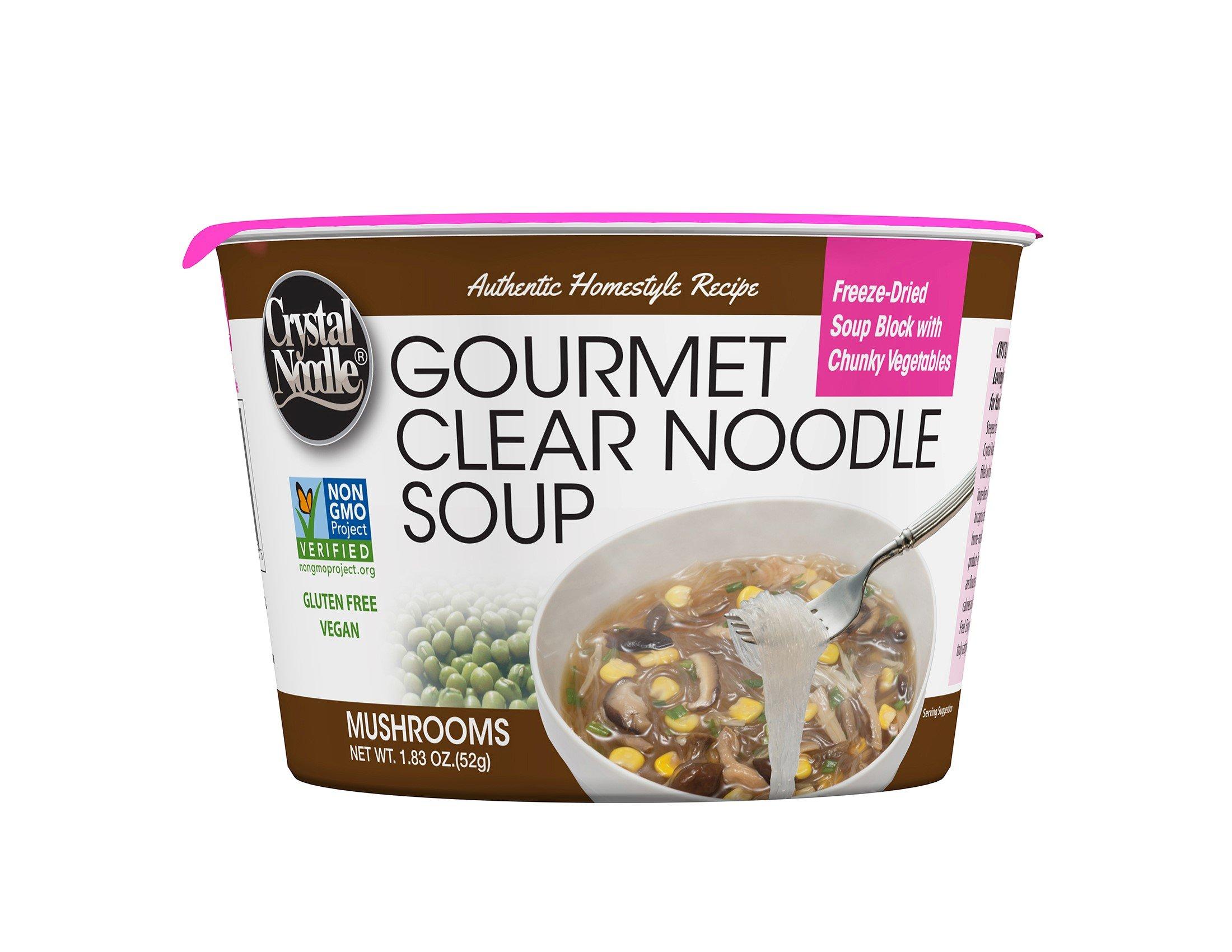 Crystal Noodle Non-GMO Long Noodle Soup, Mushrooms, Mushrooms, 1.83 Ounce (Pack of 6) by Crystal Noodle