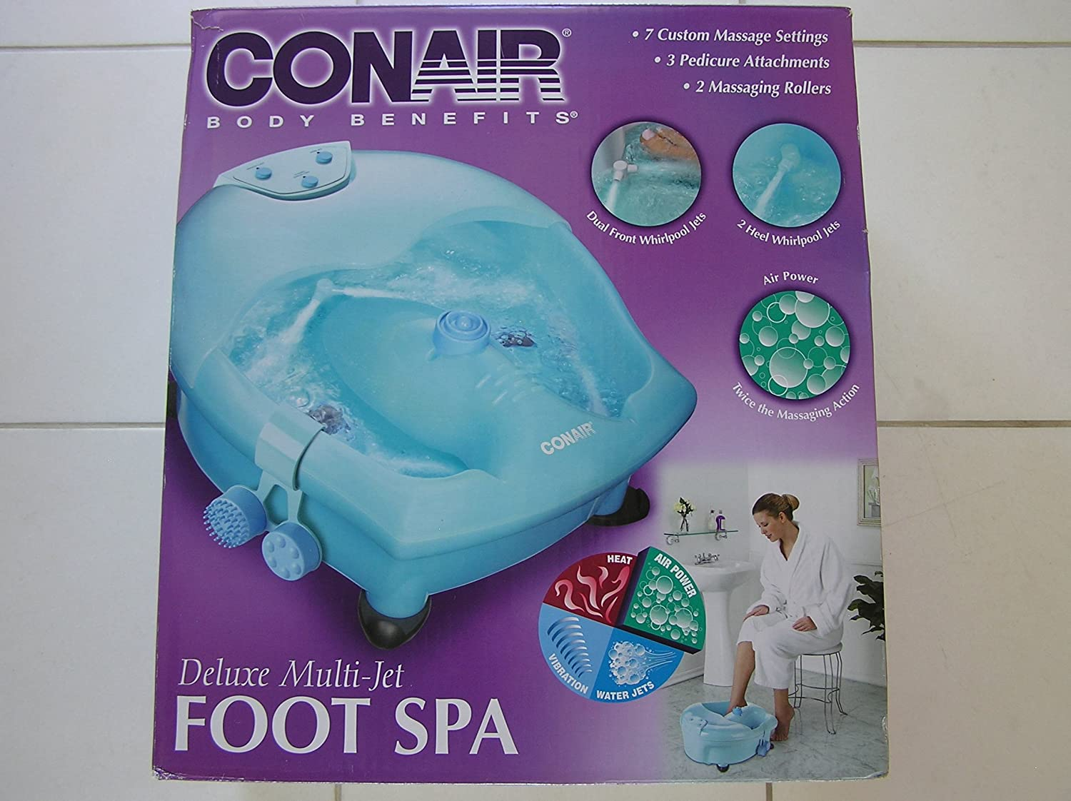 Amazon.com : Conair Body Benefits Deluxe Multi Jet Foot Spa with ...