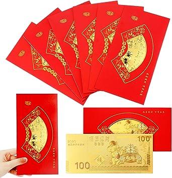 60 Chinese New Year Red Envelope Red Pocket Hong Bao Card Money Gift Bag