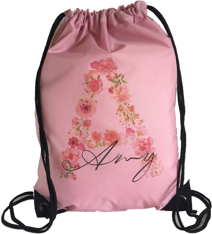 School Drawstring Bag NAME SCHOOL CLASS Bag Sack backpack PE Swim Print