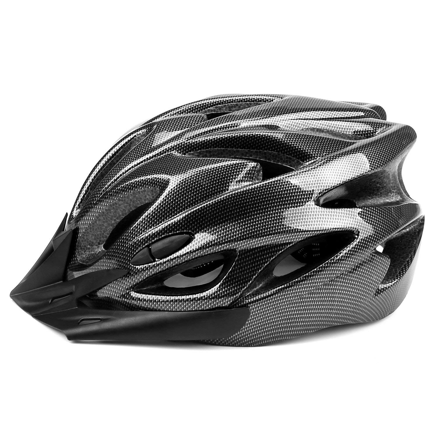 Q-Yuan Lightweight Bike Helmet, CPSC Certified Cycle Helmet Adjustable Thrasher for Adult with Detachable Liner with Water and Dust Resistant Cover