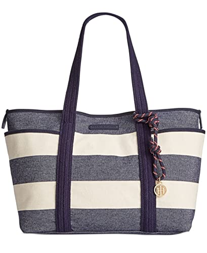 0720dd053e Tommy Hilfiger Women s Dariana Rugby Stripe Tote Navy Natural One Size