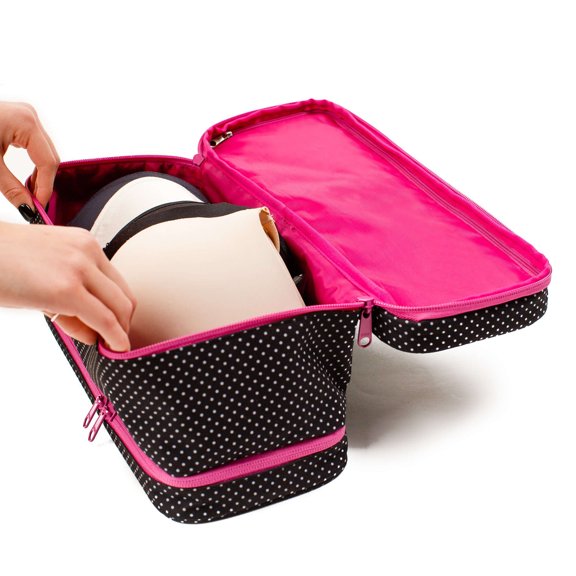 Large Travel Bra Organizer - Versatile Storage Bag For Women On Travel