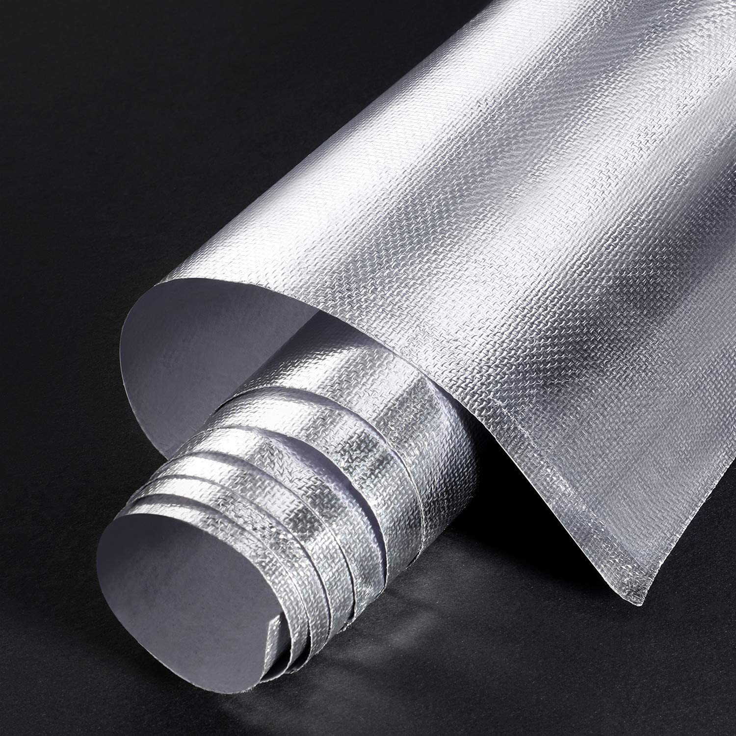 Adhesive Backed Aluminized Fiberglass Sheet Practical Heat Shield Protection Barrier Cover Aluminized Heat Shielding Mat for Hose and Auto Use (Silver, 36 x 48 Inch)