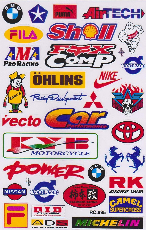 Variante 1 Autocollant Sticker Sponsors R/églage Tuning Rally Voiture mod/èle Moto 1 Page 27 x 18 cm pour lext/érieur