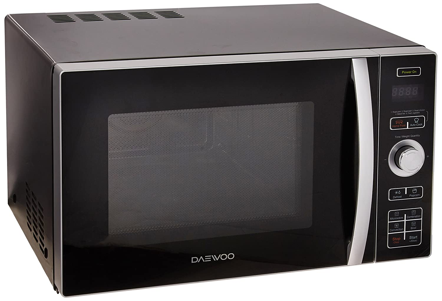 Daewoo KOC-9HAFDB Convection Air Fryer Microwave Oven 0.9 Cu. Ft., 900W | Black