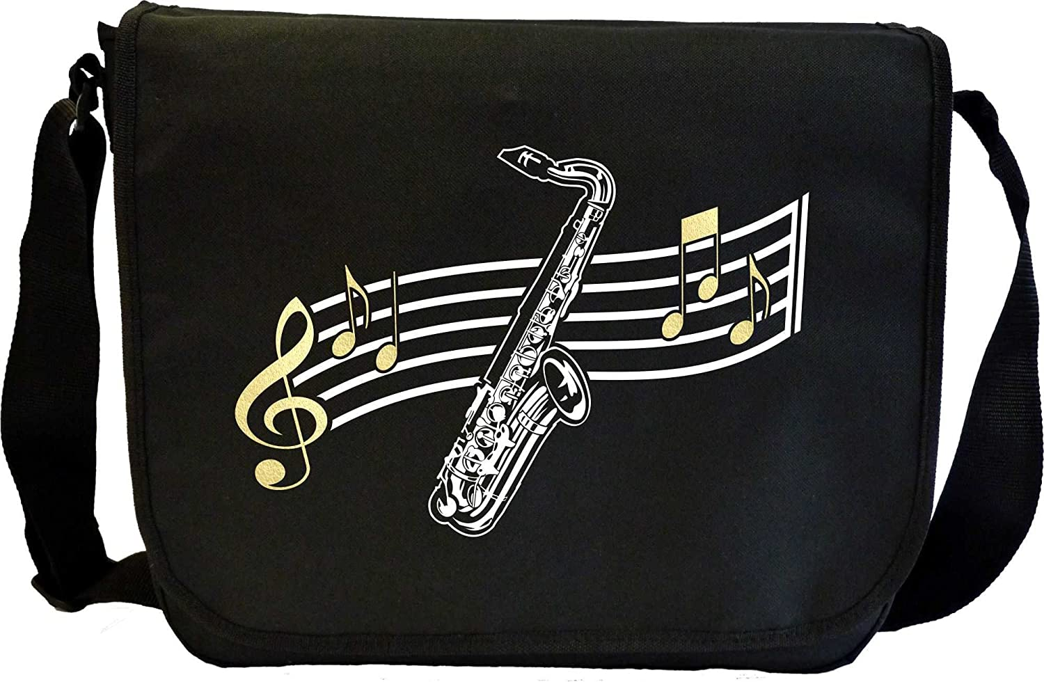 Saxophone Sax Tenor Curved Stave - Sheet Music Document Bag Sacoche de Musique MusicaliTee Sax1Tenor4_53_Stave_Bag_MG