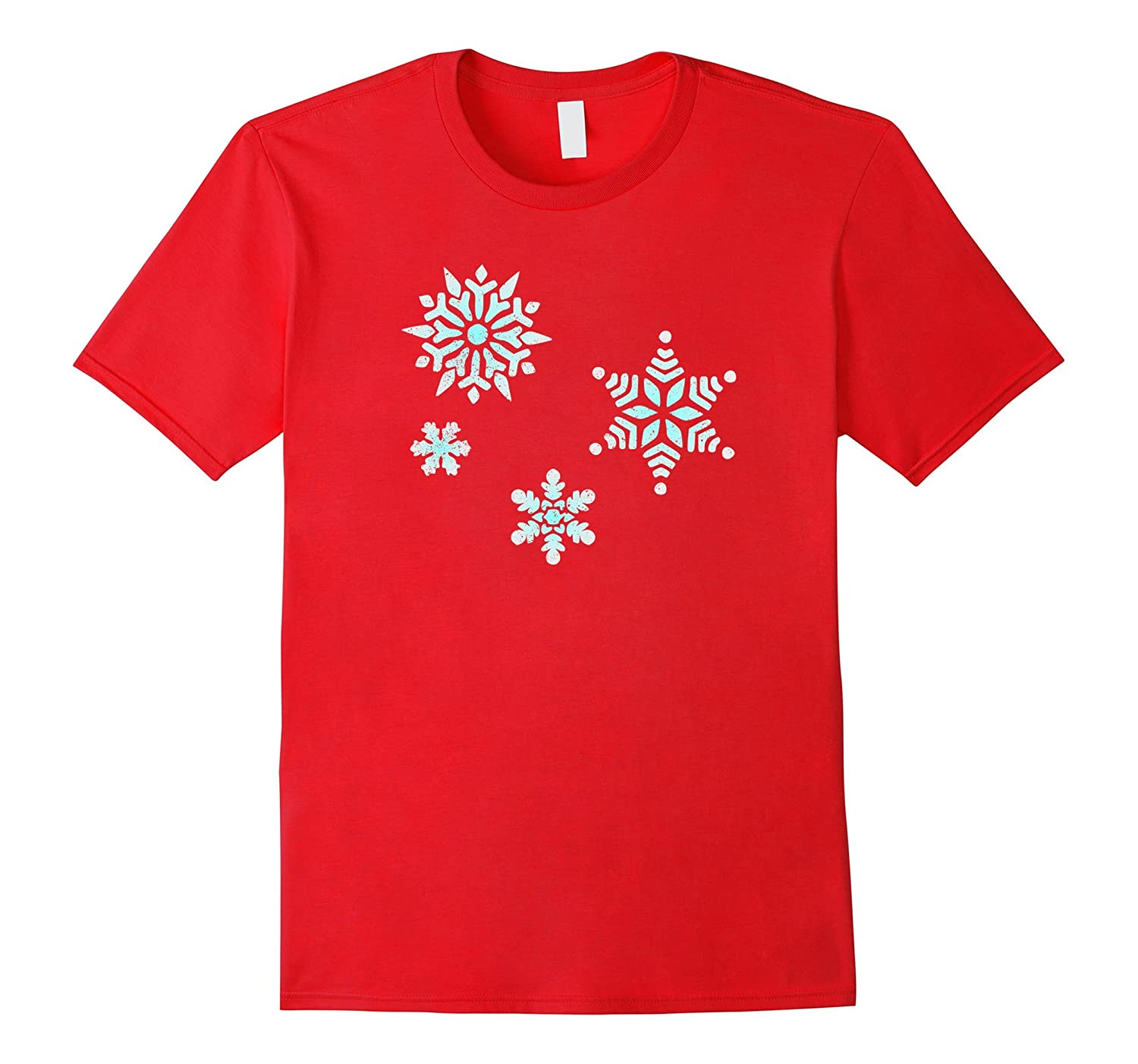Winter Snowflakes - Cool vintage distressed style T-Shirts-Art