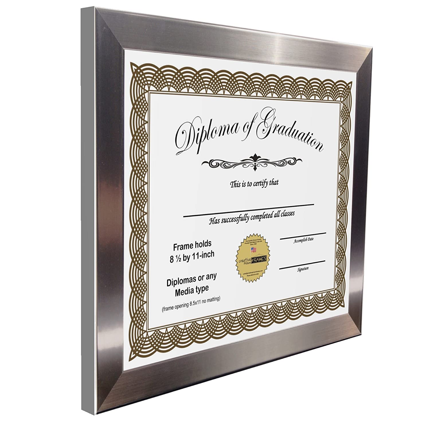 Amazon.com - CreativePF [8.5x11ss] Stainless Steel Finish, Diploma ...