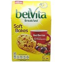 Belvita Breakfast Soft Bakes Red Berries Biscuits, 5 x 50g
