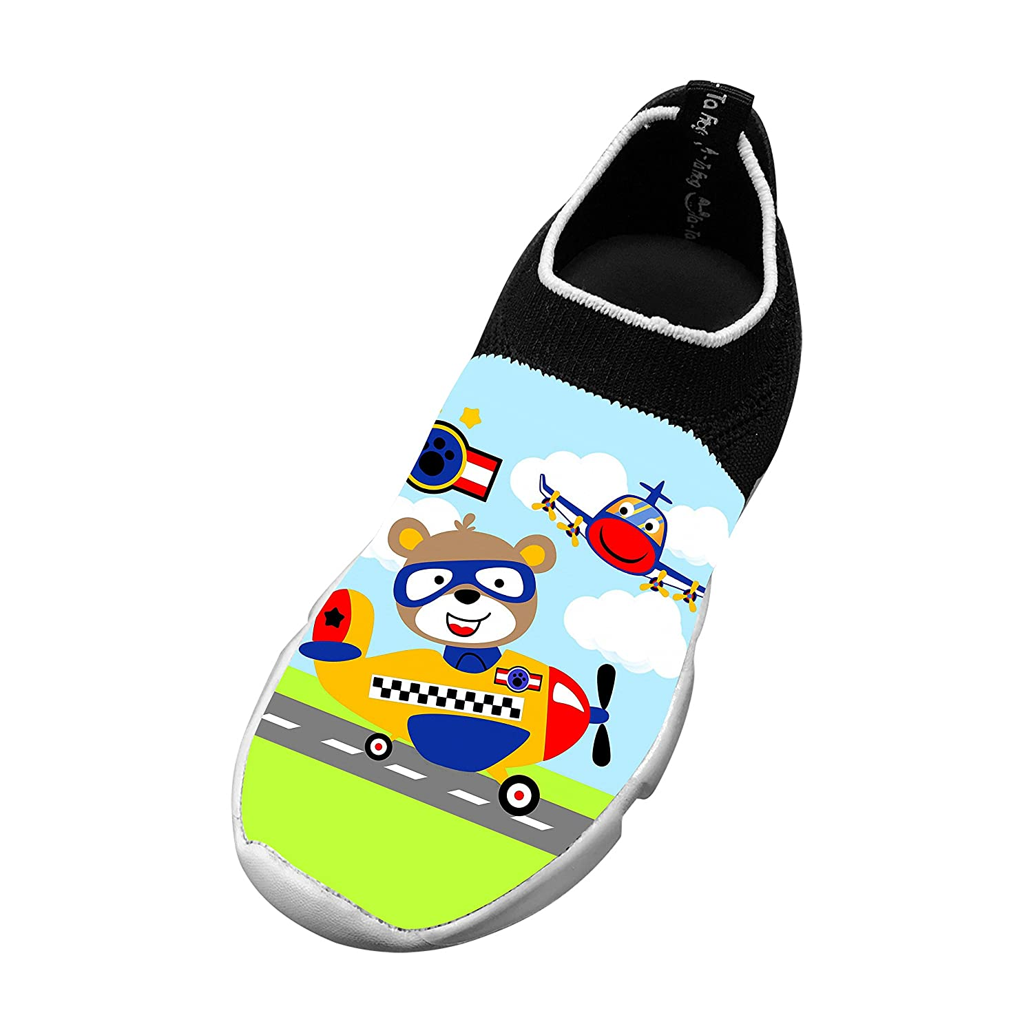 New Slim fit Flywire Weaving Jogging Shoes 3D Make Your Own With Cartoon Bear For Unisex Kids