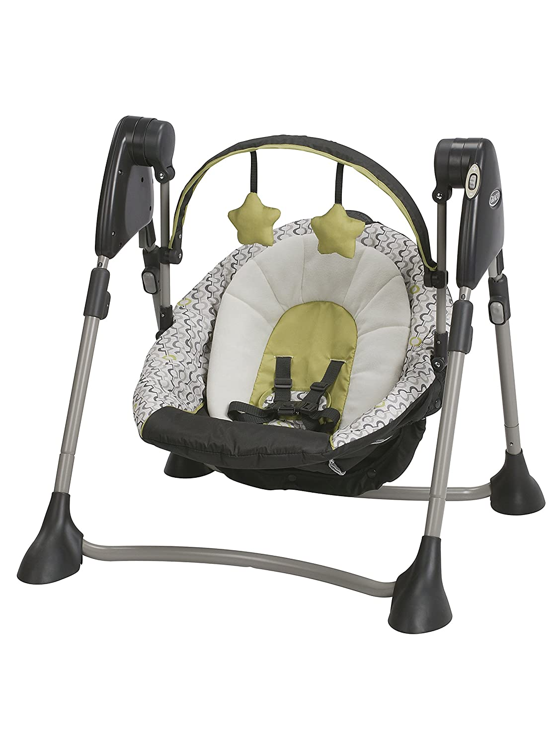 Graco Swing by Me Portable 2-in-1 Swing San Marino, Charcoal, Yellow 1930008