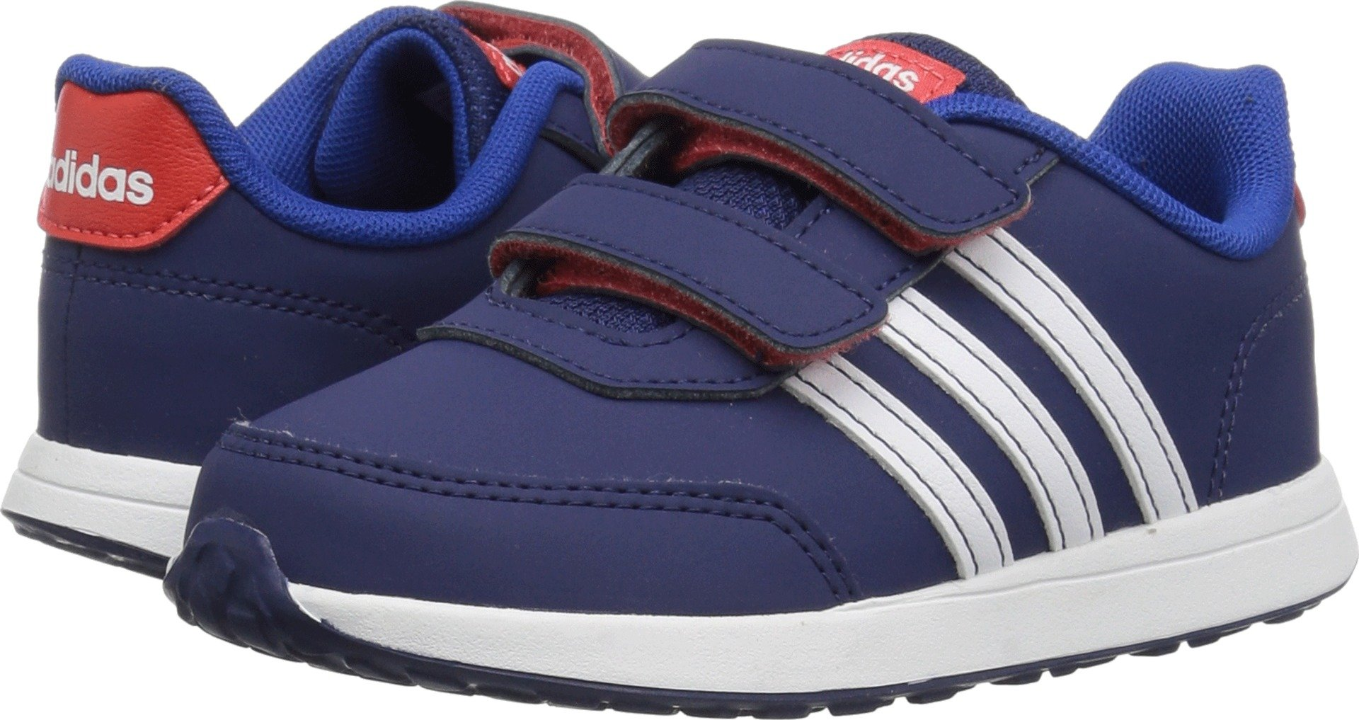 adidas Kids' VS Switch 2 Sneaker, Dark Blue/White/Hi-Res Red, 6K M US Toddler